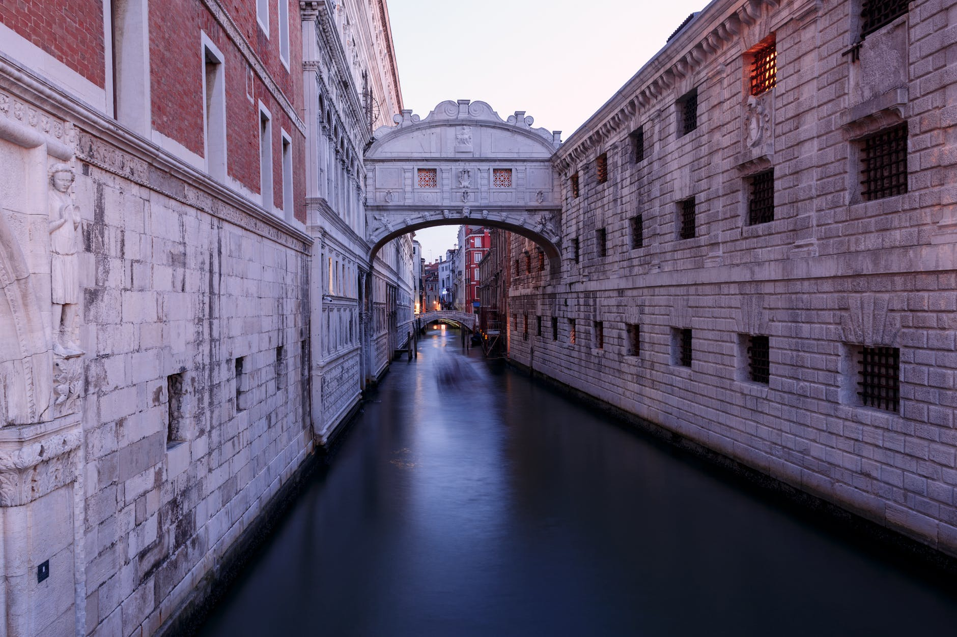 photo of canal between buildings