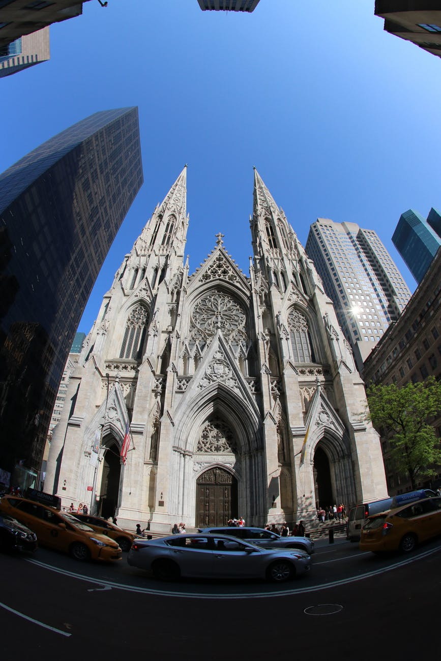 fish eye photo of cathedral